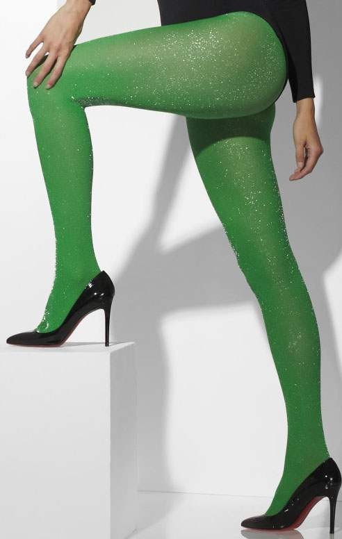 Ladies Green Opaque Tights