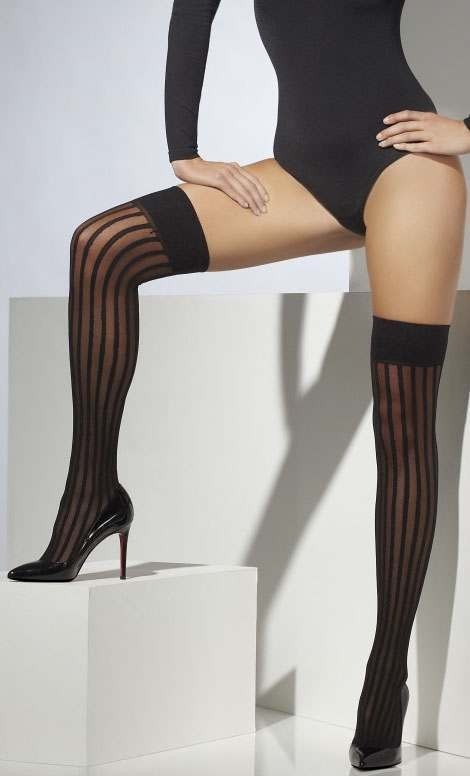 Ladies Black Sheer Hold-Ups