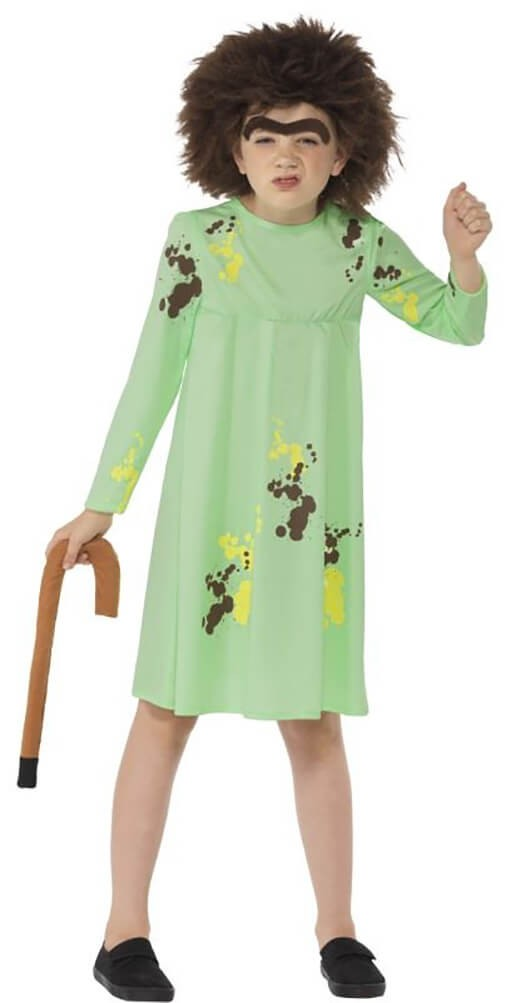 Girls Green Roald Dahl Mrs Twit Fancy Dress Costume