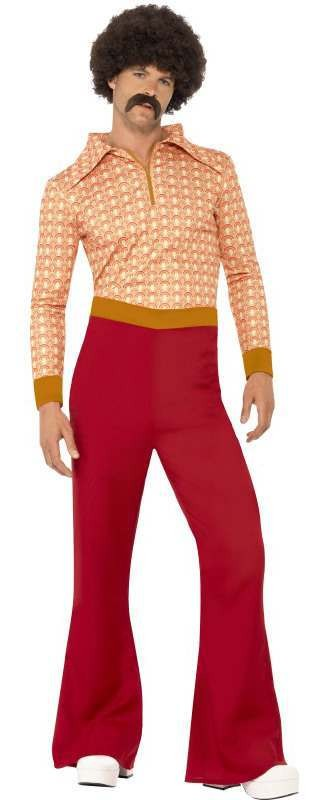Men'S Authentic 70'S Guy Fancy Dress Costume