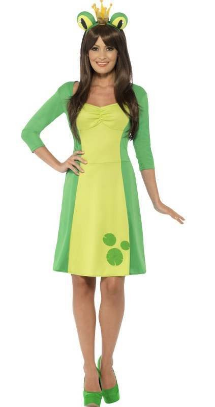 Ladies Cute Green Frog Fancy Dress Costume