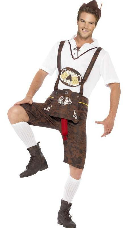 Men'S Bavarian Brad Wurst Stag/Party Fancy Dress Costume