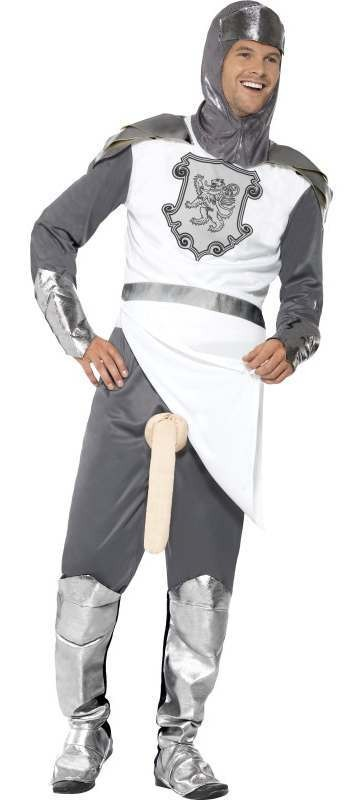 Men'S Medieval Knight To Remember Stag/Party Fancy Dress Costume