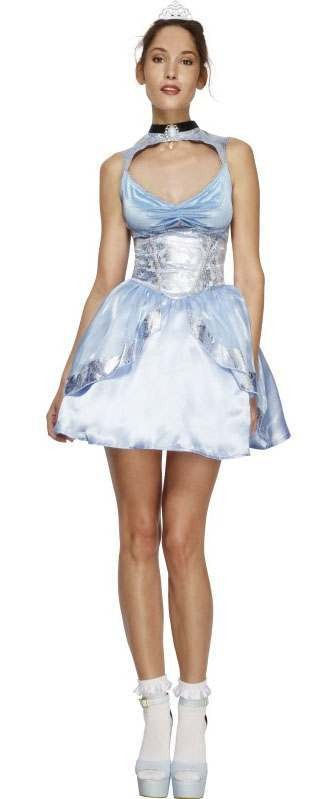 Ladies Blue Fever Magical Elsy Princess Fancy Dress Costume