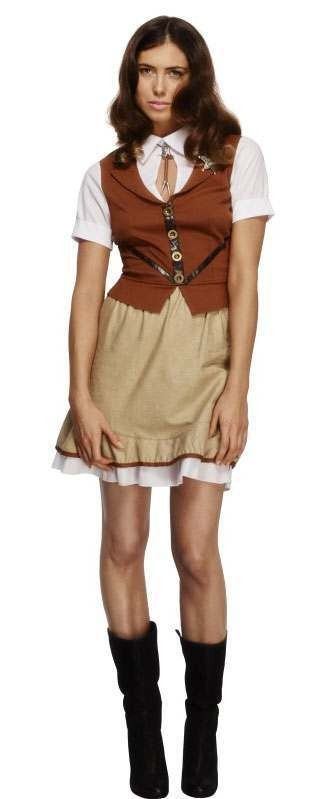 Ladies Sexy Fever Western Sheriff Fancy Dress Costume