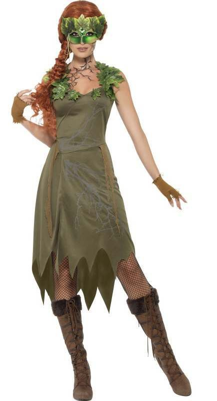 Ladies Green Forest Nymph/Fairy Fancy Dress Costume