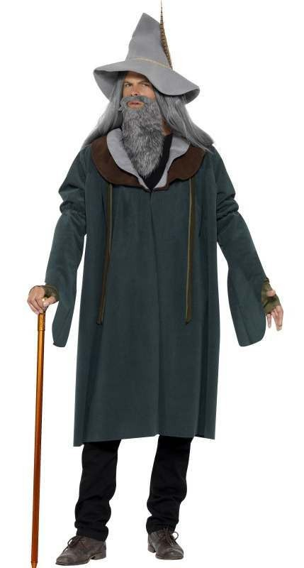 Men'S Wizard/Mage Of The Woods Fancy Dress Costume