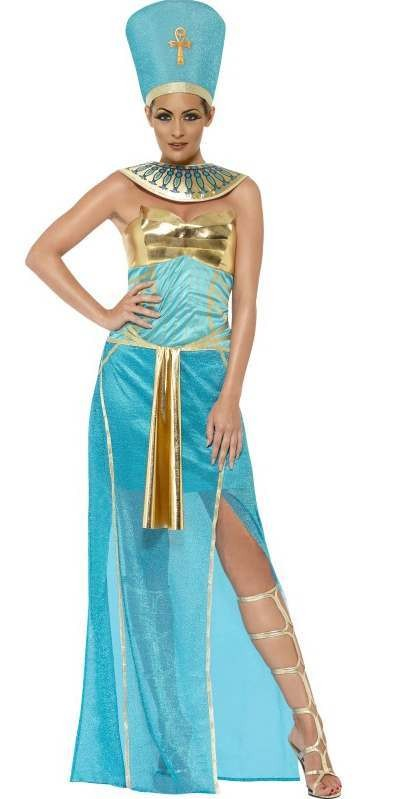 Ladies Egyptian Goddess Nefetiti Fancy Dress Costume