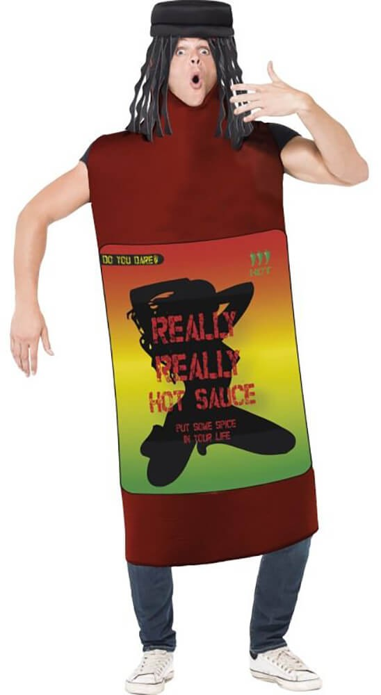 Mens Really Hot Sauce Fancy Dress Costume
