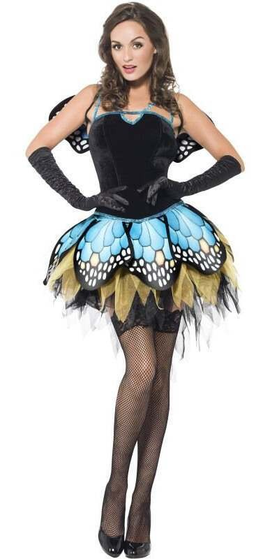 Ladies Fever Boutique Forrest Butterfly Fancy Dress Costume