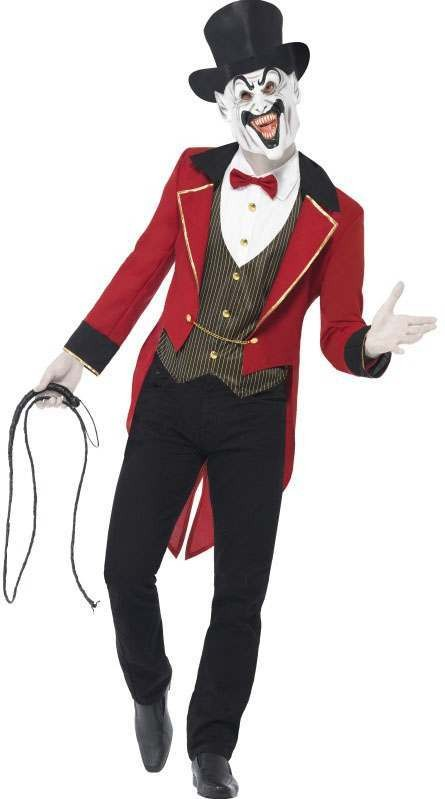 Mens Black/Red Sinister Ringmaster  (Fancy Dress Costume)