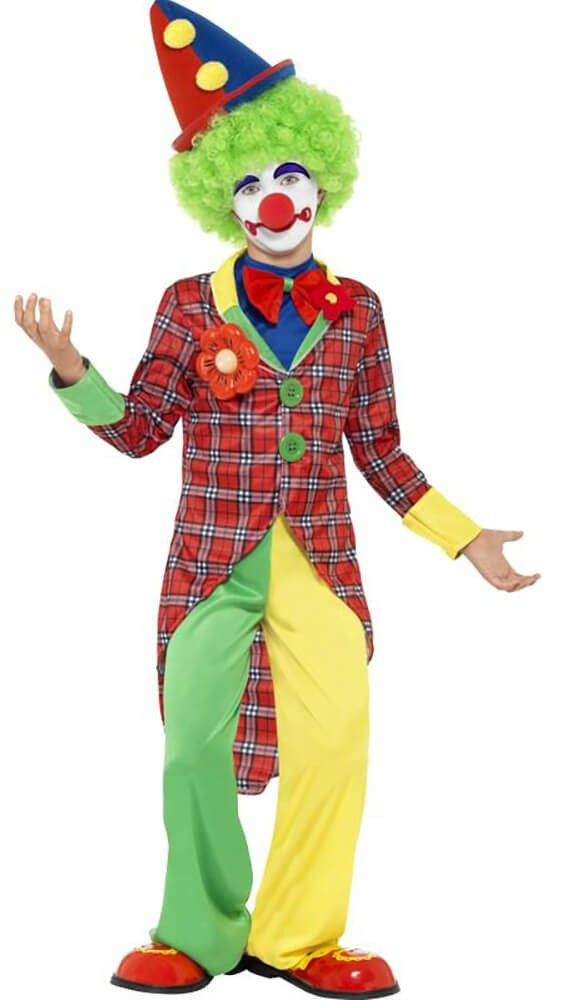 Boys Multicolour Clown Fancy Dress Costume