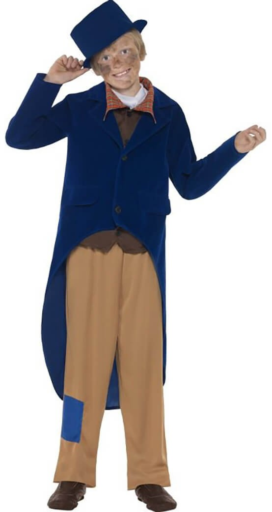 Boys Blue Dickensain Fancy Dress Costume