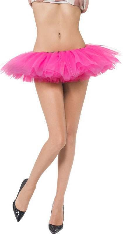 Ladies Pink Short Tutu (Fancy Dress Accessory)