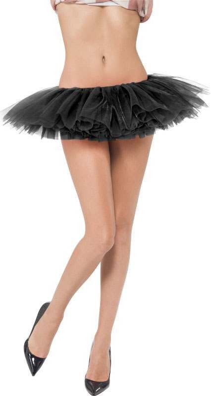Ladies Black Short Tutu (Fancy Dress Accessory)