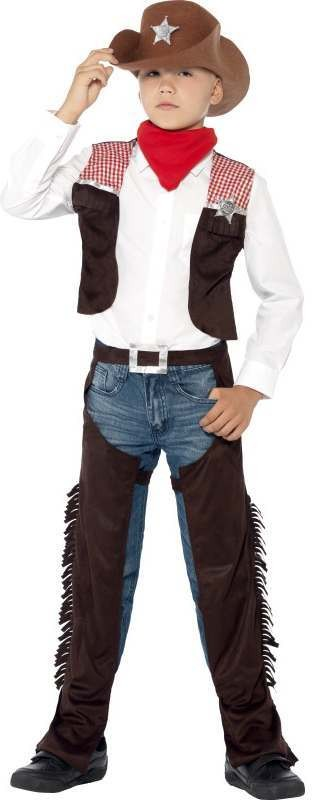 Boys Deluxe Western Cowboy Fancy Dress Costume