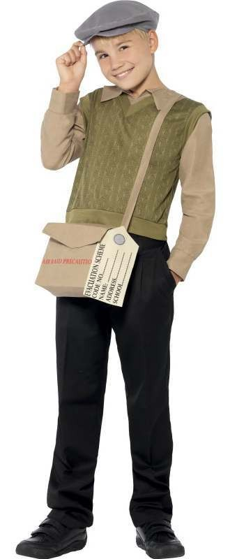 Boys War Time Evacuee Boy Kit Fancy Dress Costume