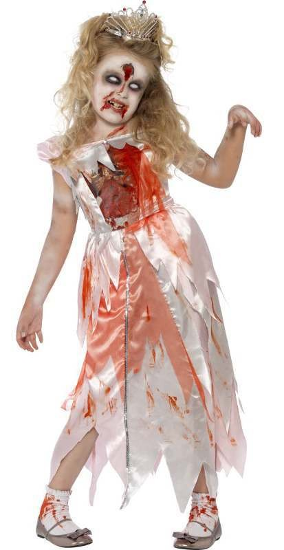 Girl'S Sleeping Princess Zombie Halloween Fancy Dress Costume