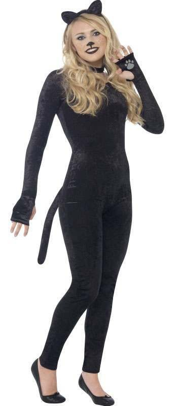 Teen Witch'S Cute Black Cat Halloween Fancy Dress Costume