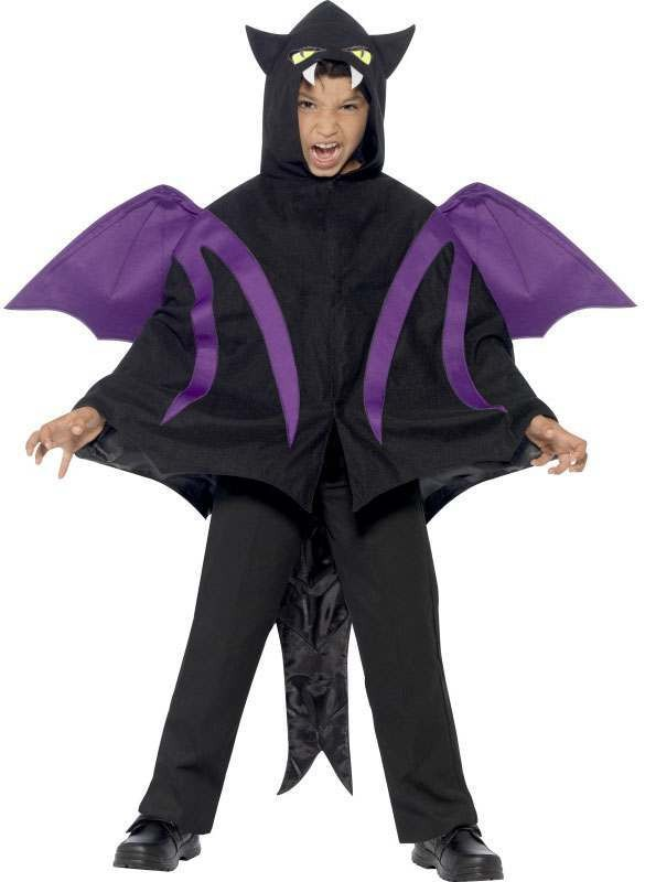 Childs Hooded Creature/Dragon Halloween Fancy Dress Cape