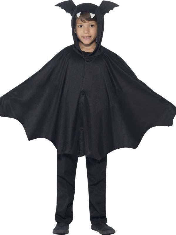 Childs Black Bat Cape Halloween Fancy Dress Costume