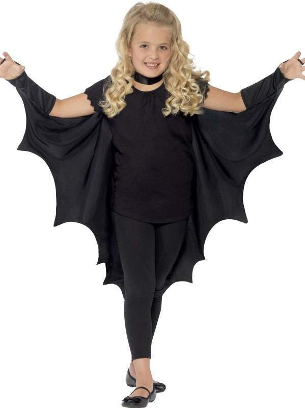 Childs Black Vampire Bat Halloween Wings