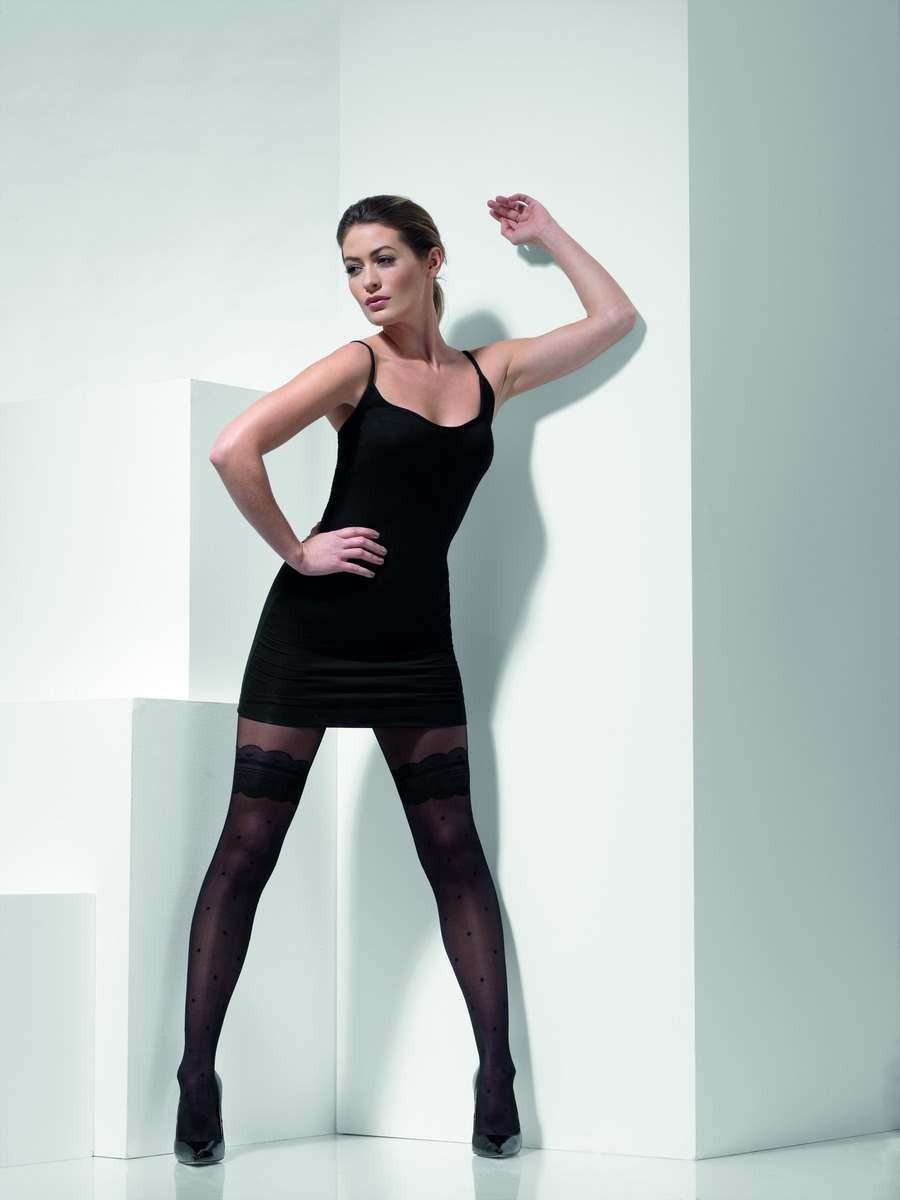LADIES BLUE OPAQUE TIGHTS FANCY DRESS ACCESSORY