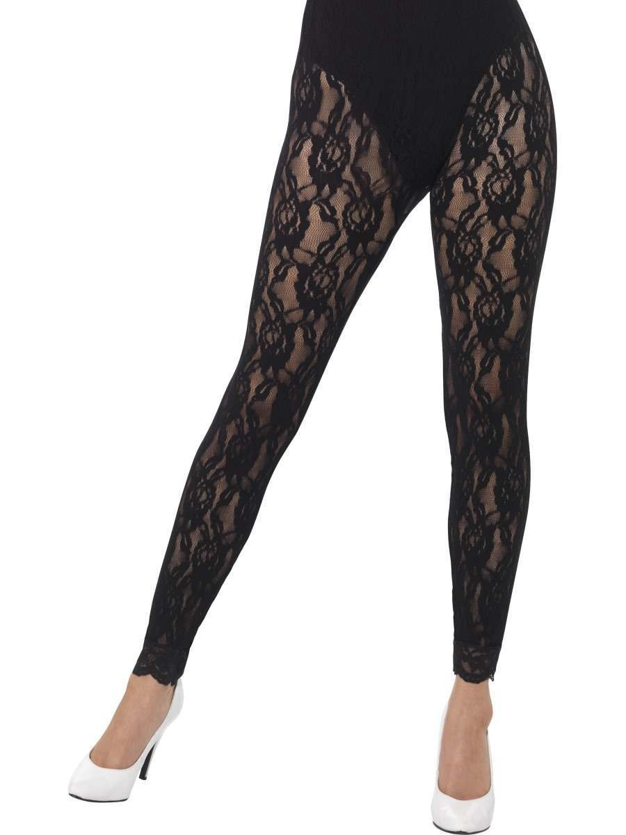 80s Lace Leggings Fancy Dress Accessory