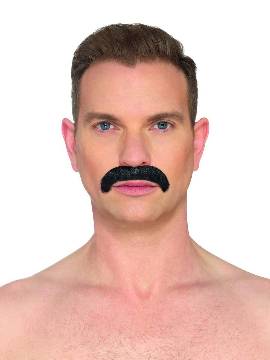 The Horseshoe Black Moustache Fancy Dress Accessory