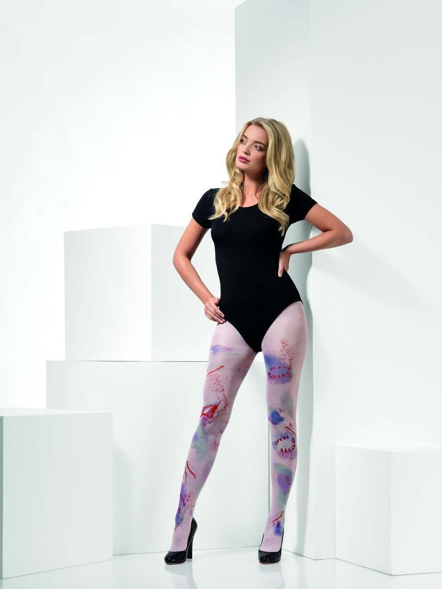 Zombie Attack Opaque Tights Fancy Dress Accessory