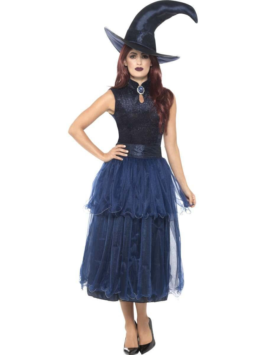 Deluxe Midnight Witch Costume Fancy Dress