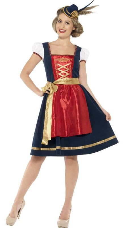 Ladies Traditional Deluxe Claudia Bavarian Fancy Dress Costume