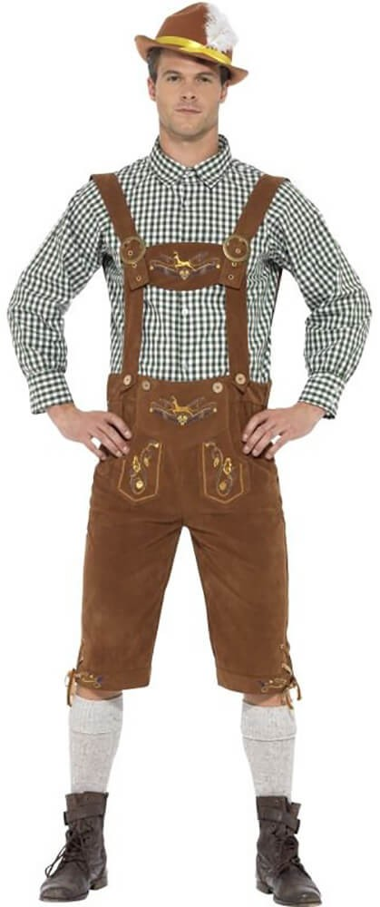 Mens Traditional Deluxe Hanz Bavarian Fancy Dress Costume