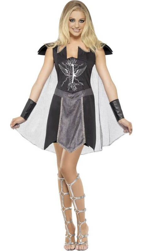 Ladies Roman/Spartan Dark Warrior Fancy Dress Costume