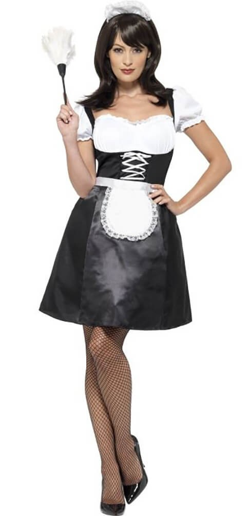 Ladies Naughty French Maid Fancy Dress Costume