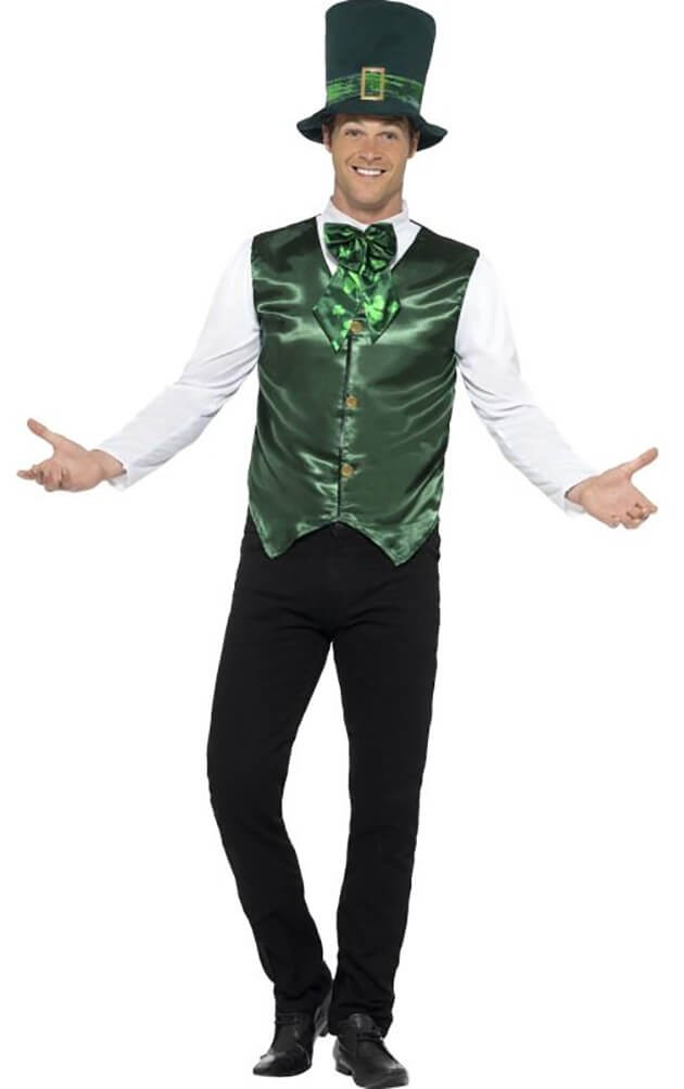 Mens Green St Patrick Lucky Lad Fancy Dress Costume
