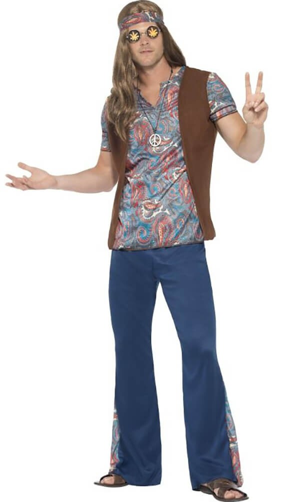 Mens Orion The Hippy 60'S Fancy Dress Costume