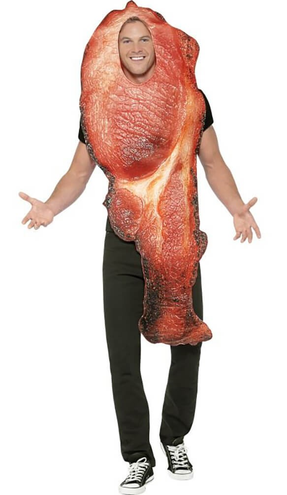 Mens Bacon Fancy Dress Costume
