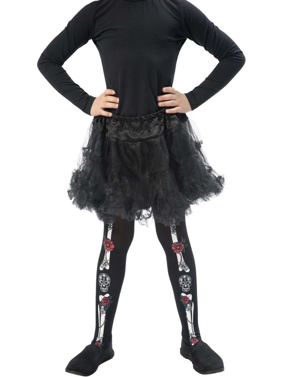 Day of the Dead Tights, Child Fancy Dress Accessory