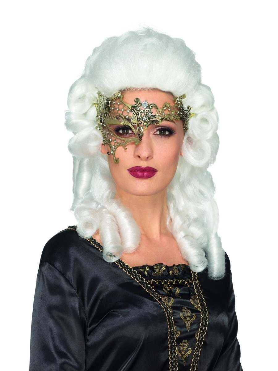 Deluxe Metal Filigree Half Eyemask Fancy Dress Accessory