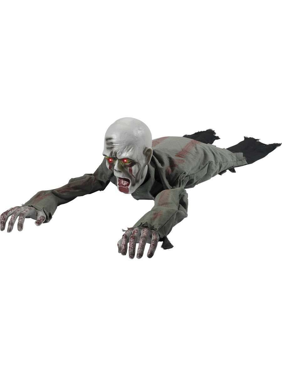 Animated Crawling Zombie Prop Fancy Dress Accessory