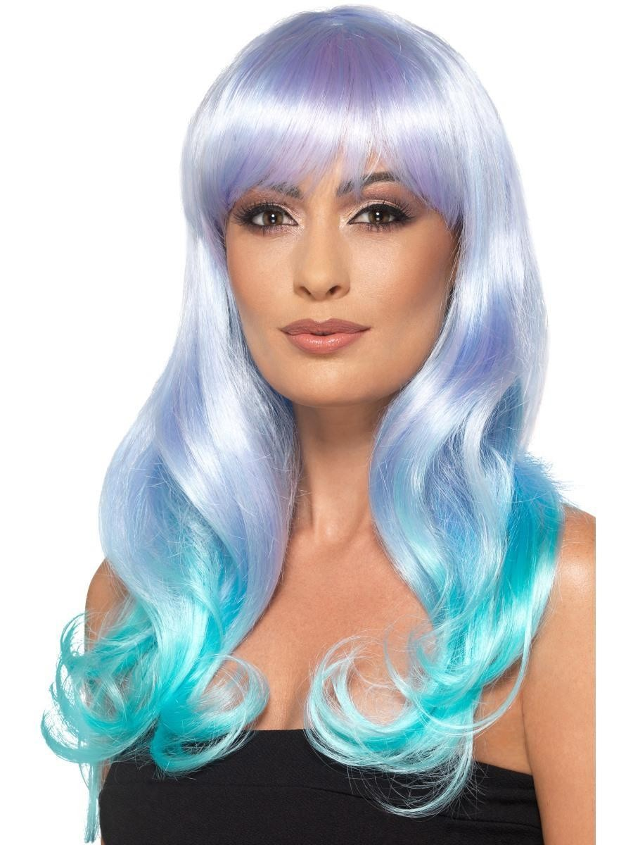 Fashion Unicorn Pastel Wig, Wavy, Long Fancy Dress Accessory