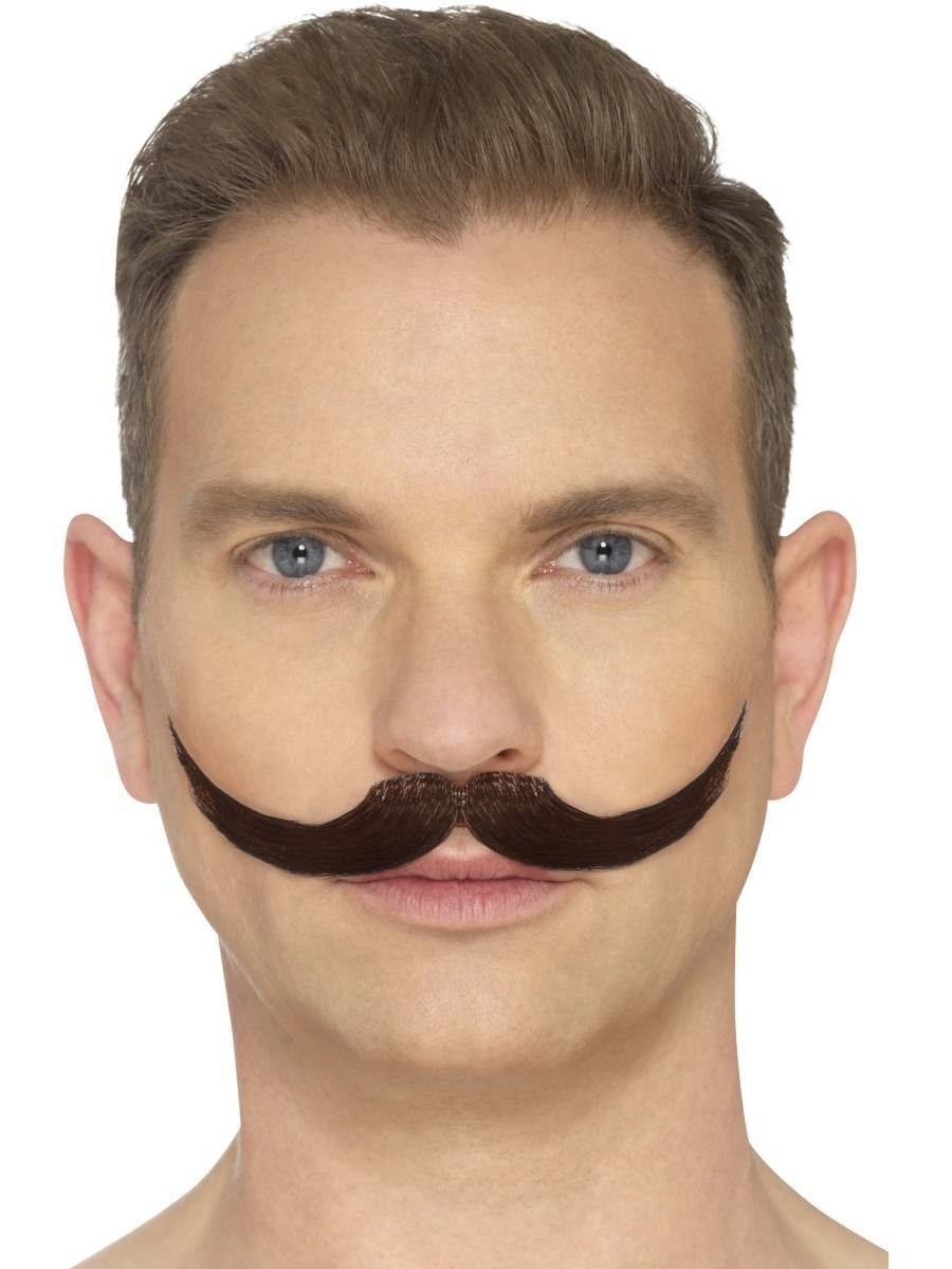 The English Moustache Brown Fancy Dress Accessory