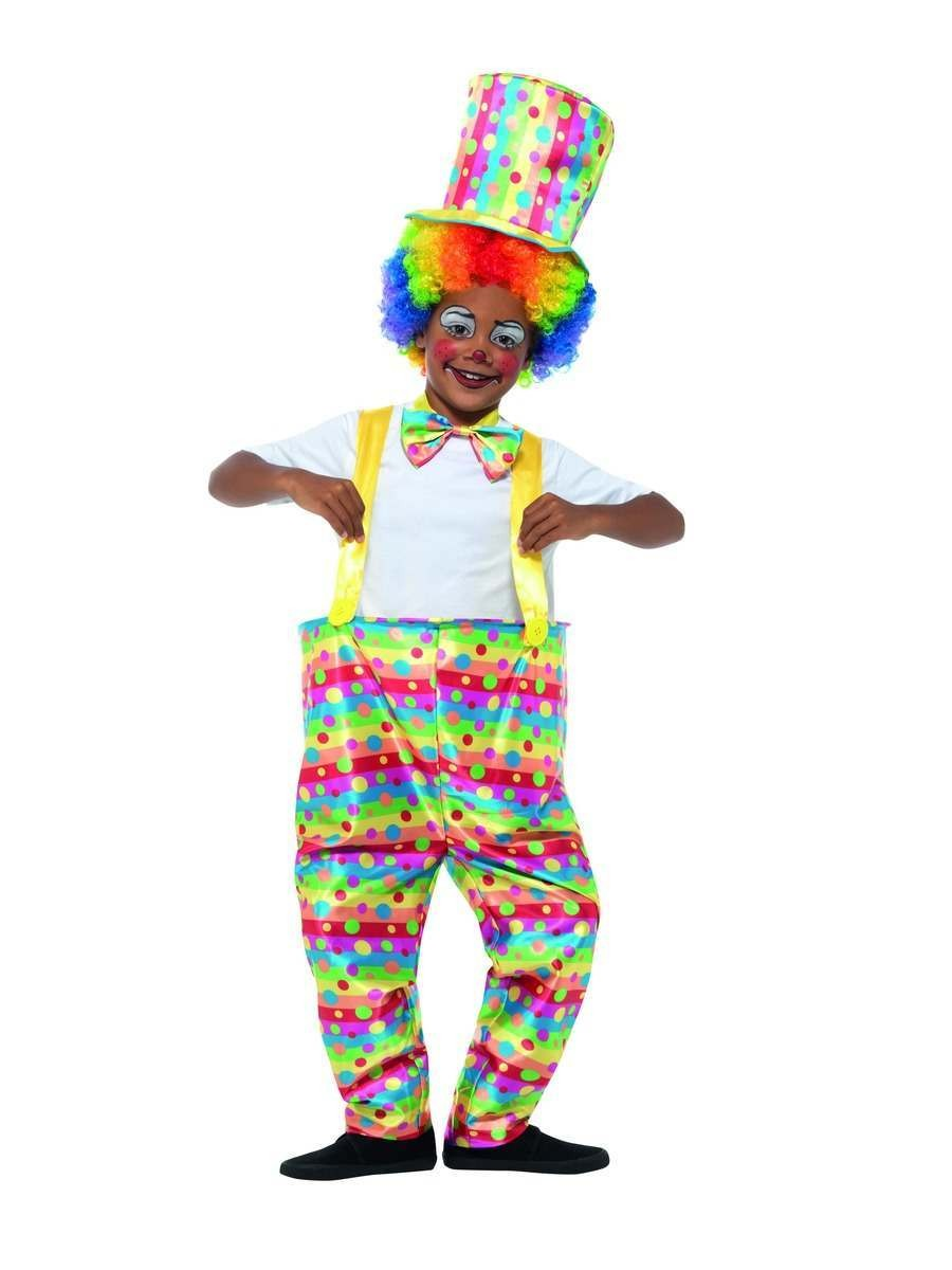 Boys Clown Costume Fancy Dress
