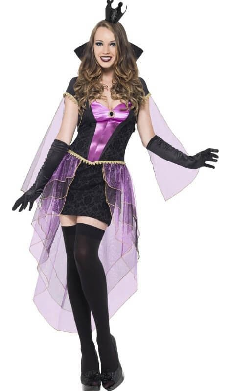 Ladies Wicked Mirror Mistress Fancy Dress Costume
