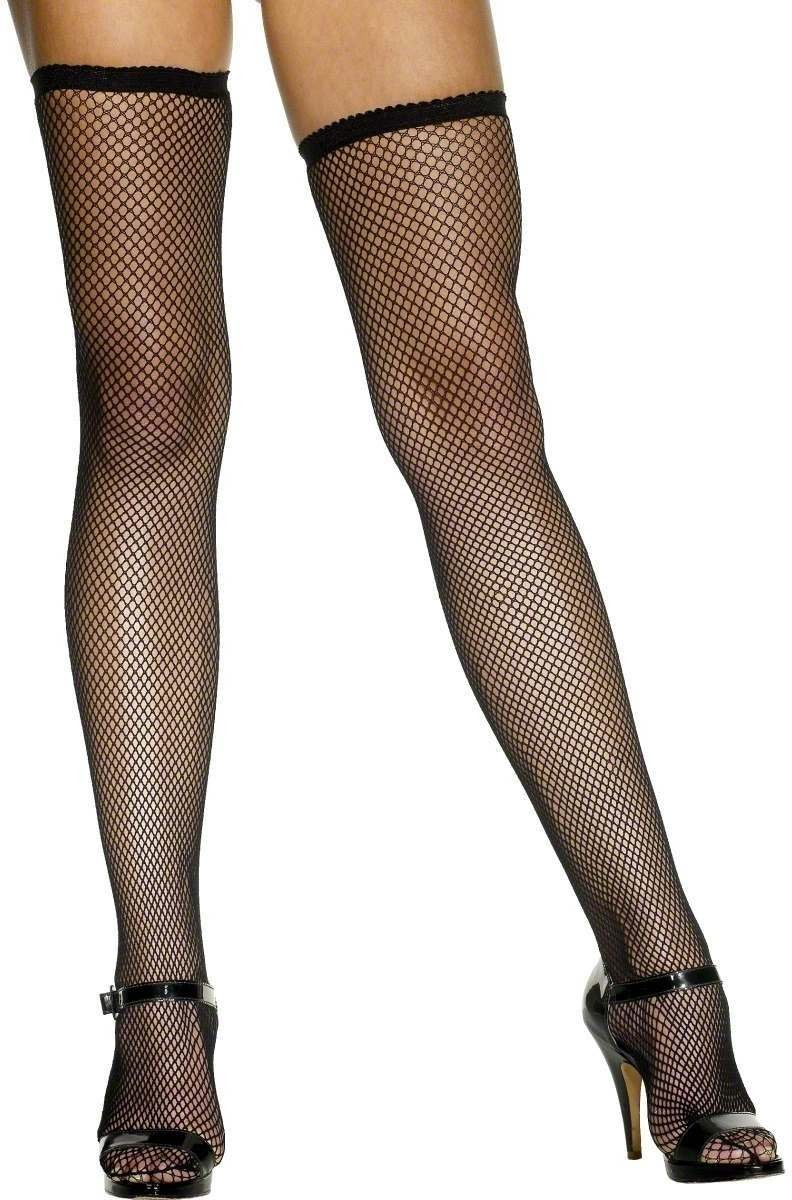 Fishnet Stockings Black - Fancy Dress Ladies (Burlesque , Sexy)