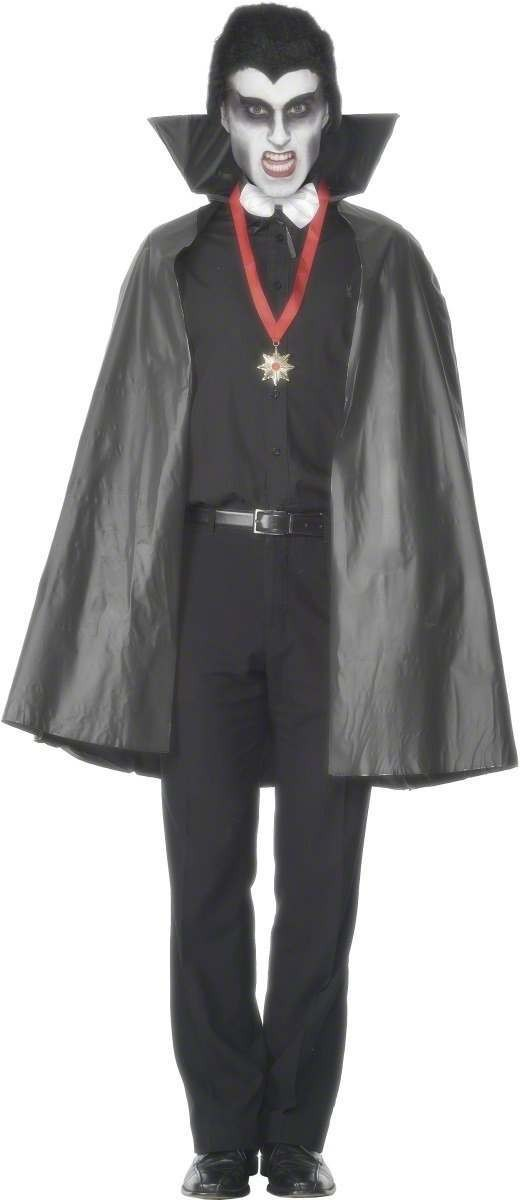 Pvc Vampire Cape - Fancy Dress (Halloween)