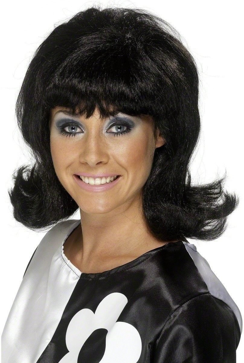 60S Flick-Up Wig - Fancy Dress Ladies (1960S) - Black