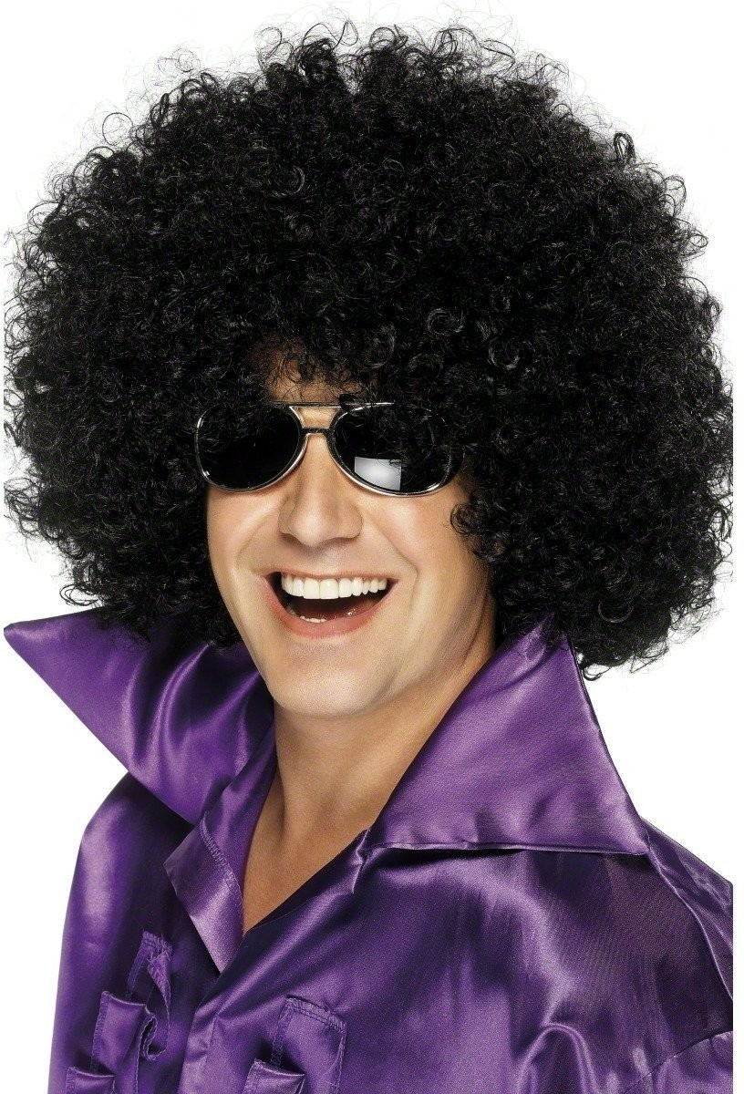 Afro Wig - Fancy Dress (1970S) - Black