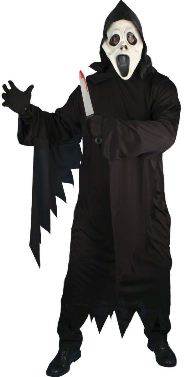 Screamer Ghost Fancy Dress Costume Mens (Halloween)